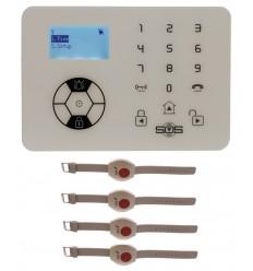 KP9 Siren Only Wireless Panic Alarm Kit B with Wristband Wireless Panic Buttons