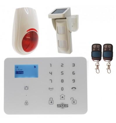 KP9 GSM Alarm with Outdoor Pet Friendly Solar Powered PIR & External Siren