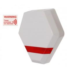 Compact Solar Powered Dummy Alarm Siren with Window Sticker
