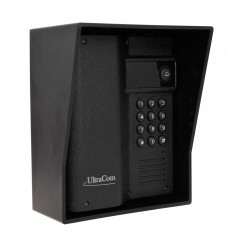 UltraCom Caller Station with Keypad & Black Outdoor Hood.