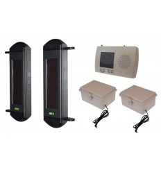1B Solar Wireless Perimeter Alarm System with Rechargeable Power Packs