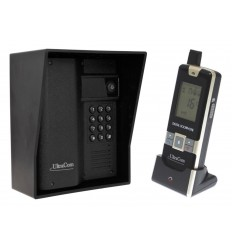 UltraCom 600 metre Wireless Intercom (with Keypad) & Outdoor Black Hood.