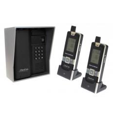 UltraCom 600 metre Wireless Intercom (with Keypad), Outdoor Silver Hood & 2 x Handsets.