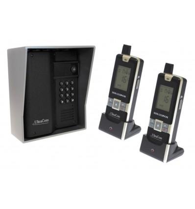 600 metre Wireless UltraCom Intercom with Keypad & Silver Outdoor Hood & 2 x Handsets