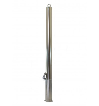Stainless Steel 76 mm Diameter Removable Security Post with Top Chain Eyelet (001- 2920 K/D, 001-2910 K/A)