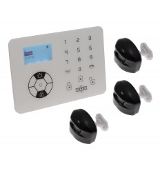 KP9 Bells Only Alarm with 2 x Outdoor Wireless Curtain PIR