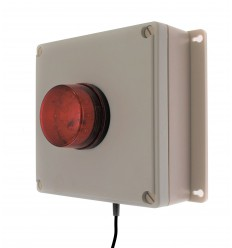 Wireless Alarm Control Panel with Adjustable Buzzer & Latching Red Flashing LED