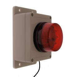 Buzzer & Red Flashing Strobe Assembly with 20 metres of Cable