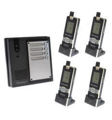 4 x Property 600 metre Wireless UltraCom Intercom System
