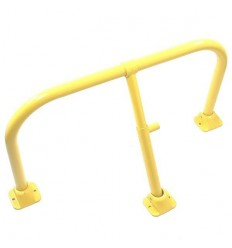 Yellow Fold Down Hoop Barrier & Integral Lock