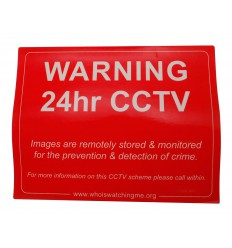 CCTV Warning Window Window Sticker (English language)