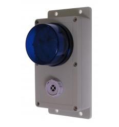 Wired Satellite Siren & Blue Flashing LED Alarm