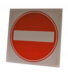 No Entry Logo Sign