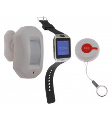 SOS Alert Watch & PIR System 8