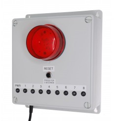 8 x Channel Long Range Wireless Control Panel with Latching Buzzer & Strobe LED