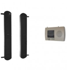 2B-100 Perimeter Alarm with Long Range (900 metre) Wireless Solar Beams & 4-channel Receiver