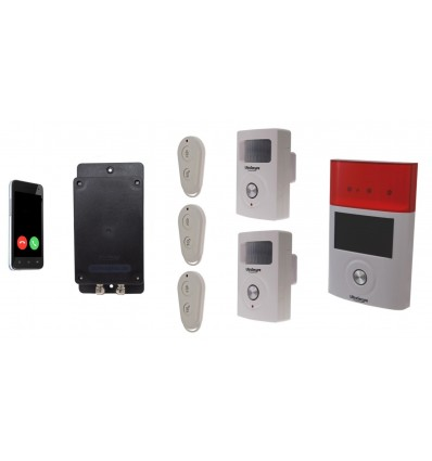 UltraDIAL Battery Covert GSM Alarm with 2 x BT PIR's & Solar Siren