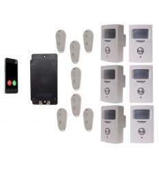 UltraDIAL Battery Covert GSM Alarm with 6 x BT PIR's