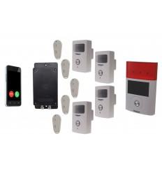 UltraDIAL Battery Covert GSM Alarm with 4 x BT PIR's & Solar Siren