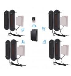 No Power 3G GSM Silent Perimeter Alarm Kit 4