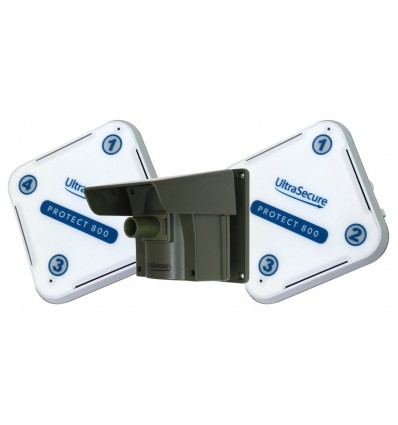 Protect-800 Long Range Wireless Driveway Alert Kit with attachable Lens Caps & 2 x Receivers
