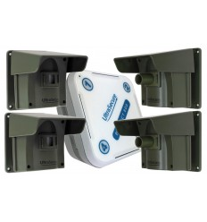 Protect 800 Driveway Alert System including 4 x PIR's with New Pencil Beam Lens.
