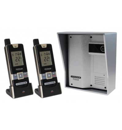 Wireless Gate & Door Intercom with 2 x Handsets (UltraCom2 No Keypad) Silver