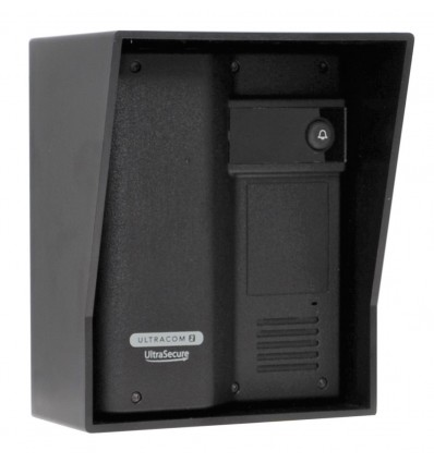 Caller Station for the Wireless Gate & Door Intercom (UltraCom2 No Keypad) Black & Black Hood