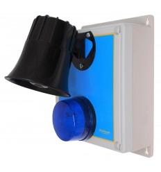 Wireless Alarm 'S' Type Siren Control Panel with 118 Decibel Siren & Blue Flashing LED