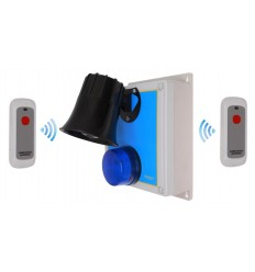 Wireless SOS & Lockdown Panic Siren Alarm with Portable Panic Buttons