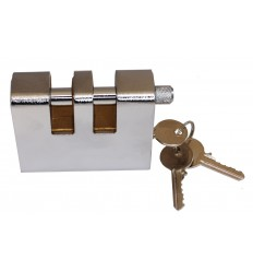Double Slotted Armoured Steel Shackle Lock (012-1070 K/D, 012-1060 K/A).