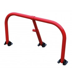 Red Folding Hoop Barrier & Integral Lock