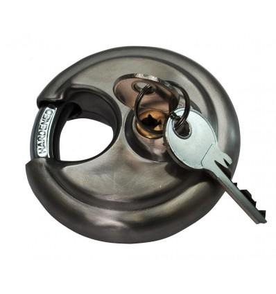 Stainless Steel Discuss Padlock & 2 Keys (001-1050 K/D, 001-1040 K/A)