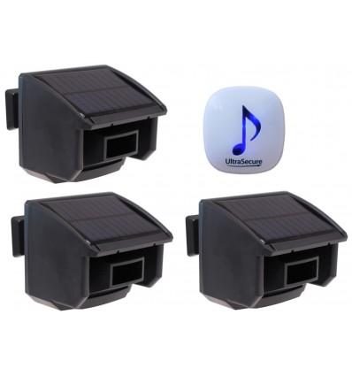 DA600 Wireless Garden & Driveway Alarm & 3 x PIR's