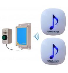 600 metre DA600 Wireless Doorbell with 2 x Receivers