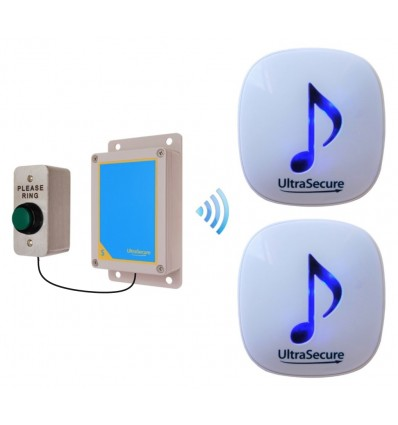 Medium range 600 metre Wireless DA600 Doorbell with 2 x Receivers