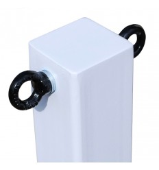 White 100P Removable Security Post & 2 x Chain Eyelets