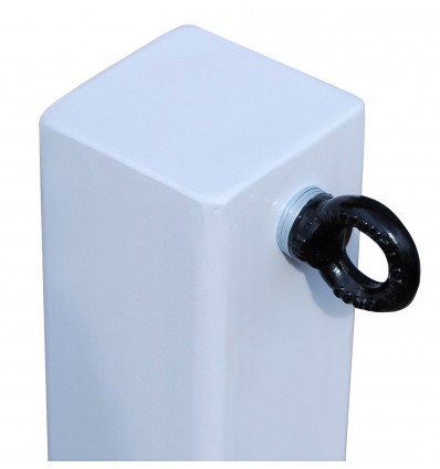 White 100P Removable Security Post & 1 x R/H Chain Eyelet
