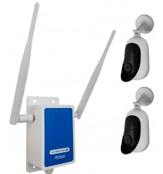 4G Wireless UltraCAM with 2 x Outdoor Battery Wifi Cameras