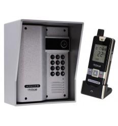 Wireless Gate & Door Intercom with Keypad (UltraCom2) Silver & Silver Hood