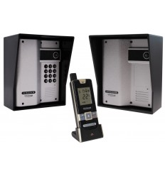 2 x Gate & Entrance Wireless Intercom (UltraCom2) with 1 x Handset