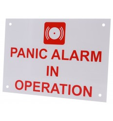 Panic Alarm in Operation Sign