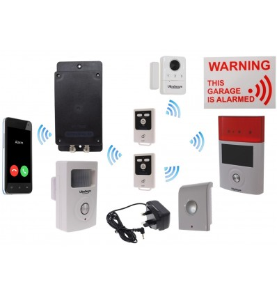 Mains powered UltraDIAL 3G GSM Garage Alarm