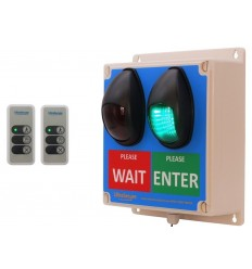 Large Wireless Door Entry Traffic Light Kit E with 2 x Intelligent Portable Controllers