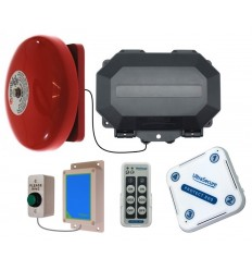 Wireless Commercial Door Bell with additional Chime Receiver