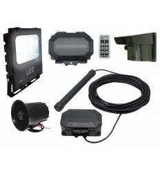 Floodlight & Siren Long Range Wireless Driveway PIR & Probe Alarm