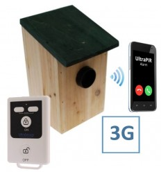 Battery Powered External UltraPIR Texting Bird-box Alarm.