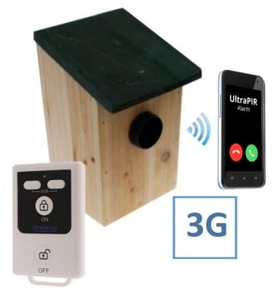 Battery Powered External UltraPIR Texting Bird-box Alarm.
