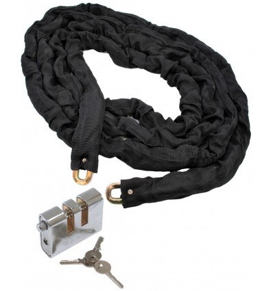 5 metre Chain with Heavy Duty Double Slotted Shackle Lock