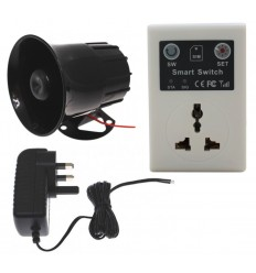 GSM Wall Socket Switch Relay with Loud Siren